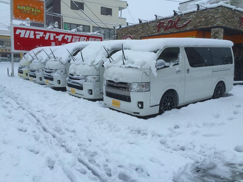 雪のハイエース高崎店