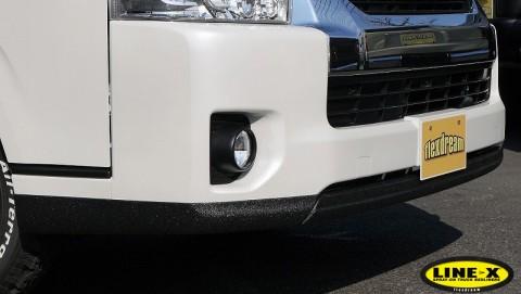 ハイエース 415コブラフロントリップスポイラー(エアロ) LINE-X塗装
