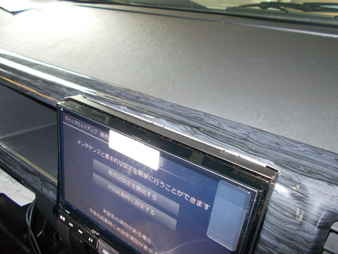 200系ハイエース・アルパイン8型ナビ取り付け (3)