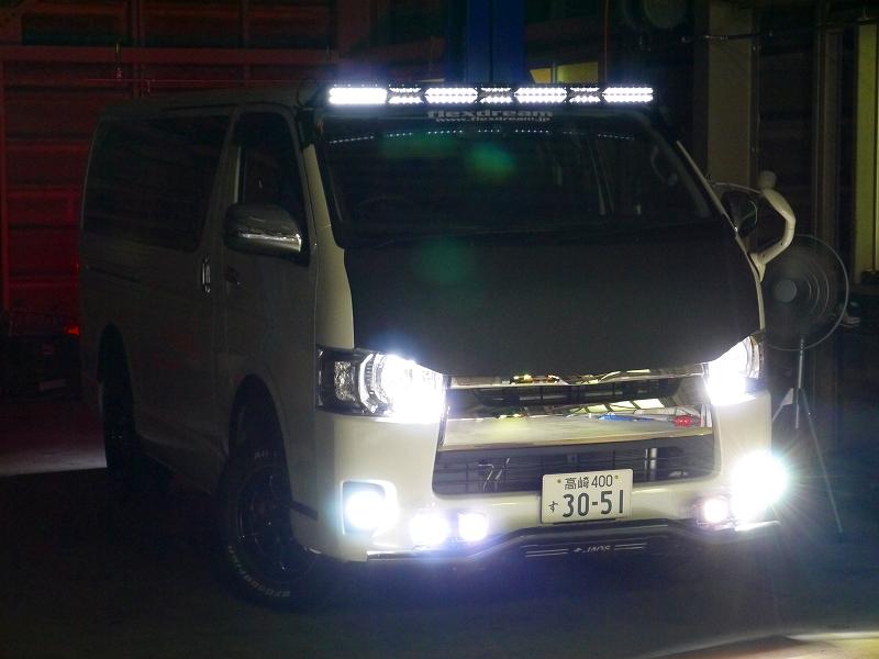 純正LED×IPF全点灯