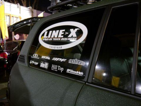LINE-X他協賛メーカーステッカー(ランクル)