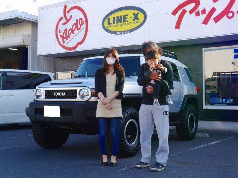 FJクルーザー コンビニエンスPKG チタニウムメタリック with LINE-Xご納車!!