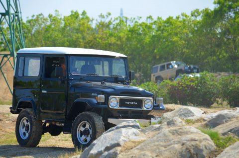 ランクル40 オフロード走行 4WD 下館オフロード