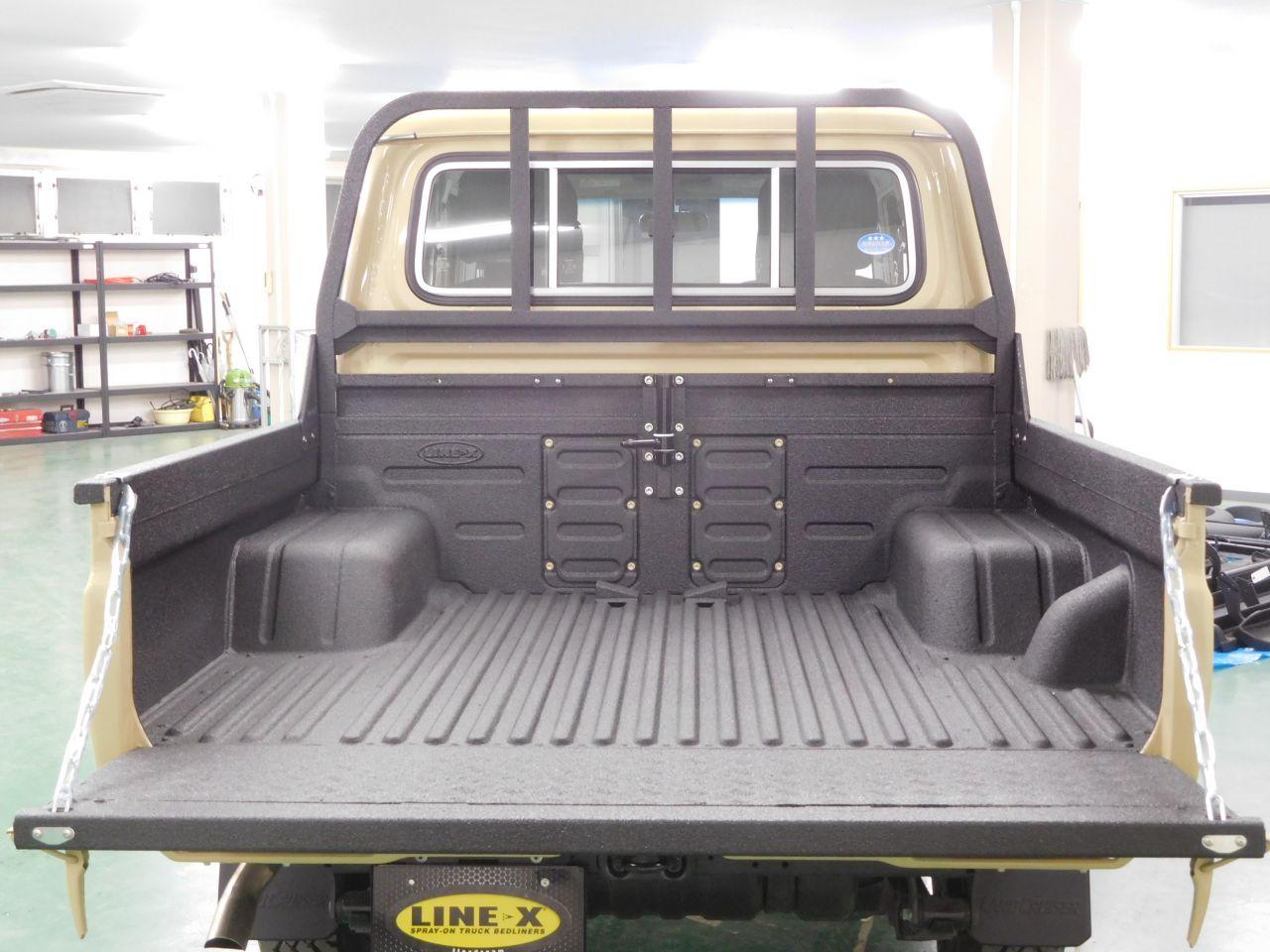 ランクル79 荷台 塗装式ベッドライナーLINE-X(ブラックカラー)