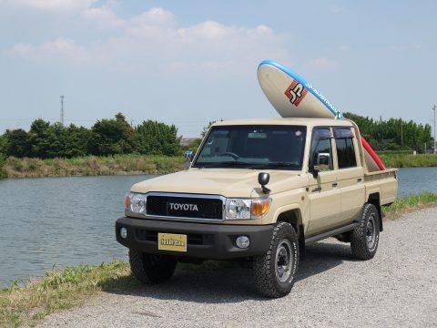 ランクル70×スタンドアップパドルボート(SUP)
