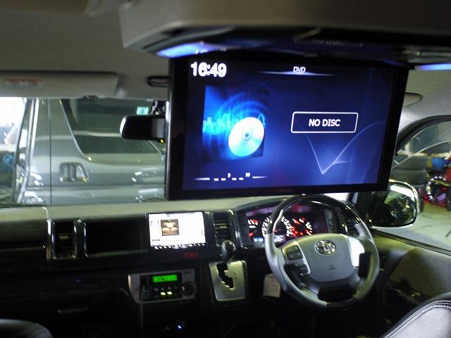 アルパイン12.8型フリップダウンモニターをハイエースワゴン4型に取り付け