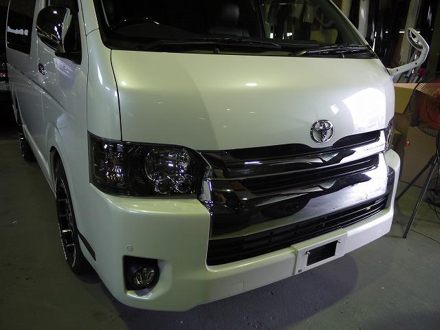 ヘッドライトインナーブラック塗装 (1)