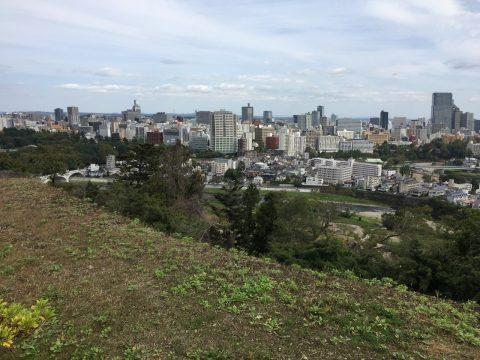 仙台城からの一望