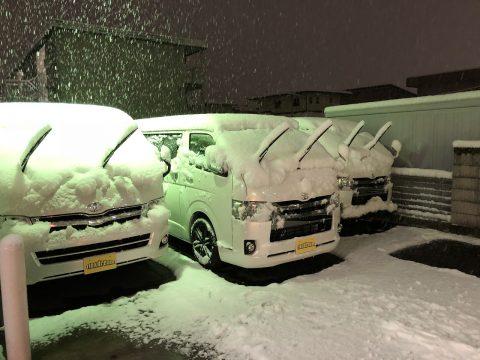 高崎店初雪数時間後