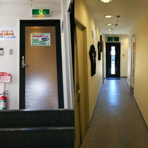 flexdreamハイエース仙台東店屋上展示場入口