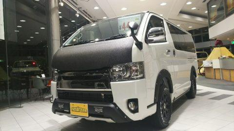 最強塗料LINE-X仙台東コンプリート ハイエースバン  スーパーGL ダークプライム 4WD完成しました♪