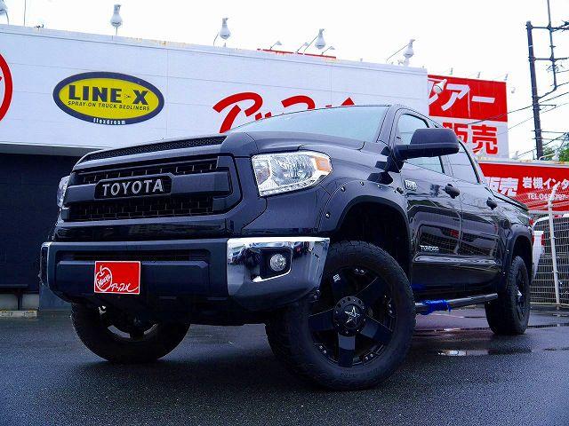 ★在庫車紹介★新並2015y TUNDRA 4WD CREWMAX SR5 ×TRDプログリル