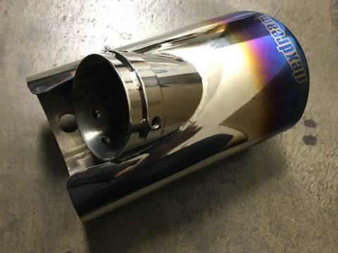 ハイエース200系フレックスドリームオリジナルマフラーカッターチタン調カラー