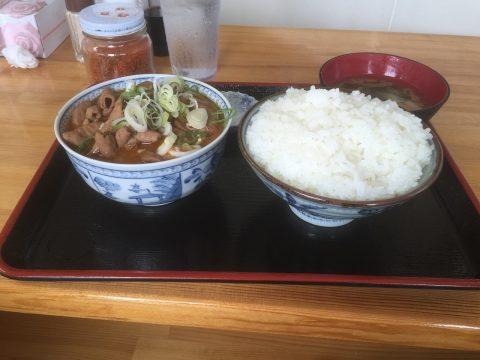 永井食堂さんのもつ煮定食