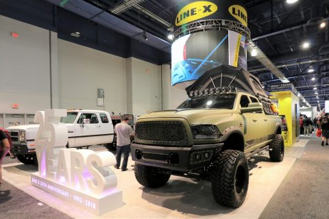 LINE-X RAM3500 SEMA2018  DieselBrothers