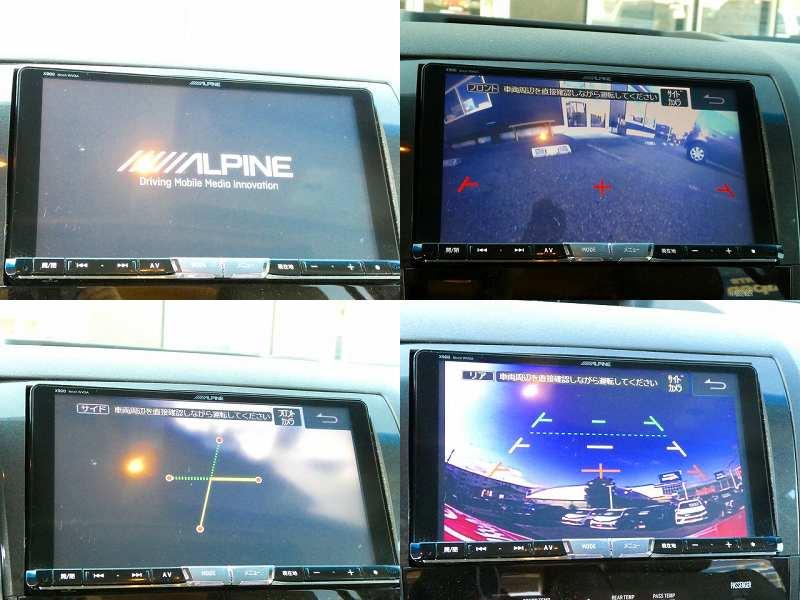 ALPINE BIG-X 9インチナビ フロント・サイド・バックカメラ