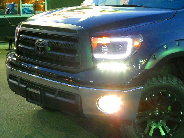 ファイバールックコノ字型ヘッドライト LED付きパネル