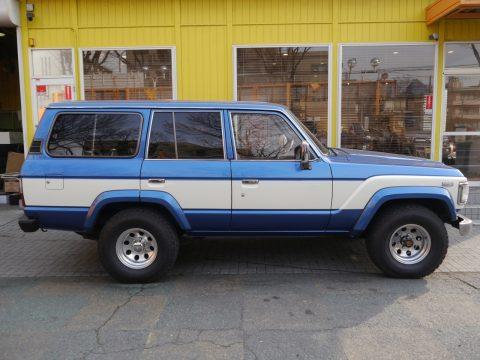 ランクル60 VX  ライトブルー×ホワイト ロールーフ換装  ノーマル車高  ランクル調布店