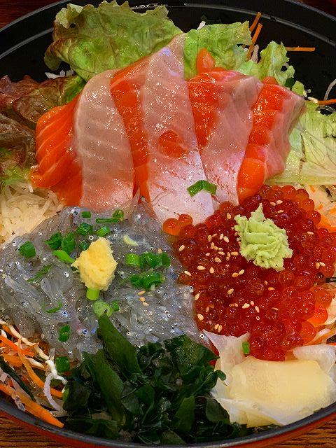 生シラス いくら サーモン 江の島 鮮魚