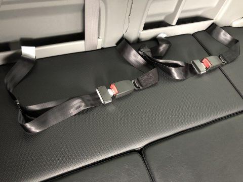 横向きシート用2点式シートベルト