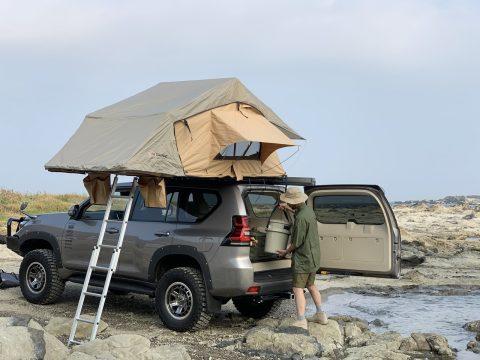 ランクル150プラド ARB4x4シンプソン3テント ルーフトップテント オートキャンプ 車上泊 キャンプハック取材