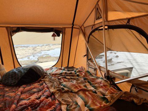 ランクル150プラド ARB4x4 Simpson3tent ルーフトップテント テント中