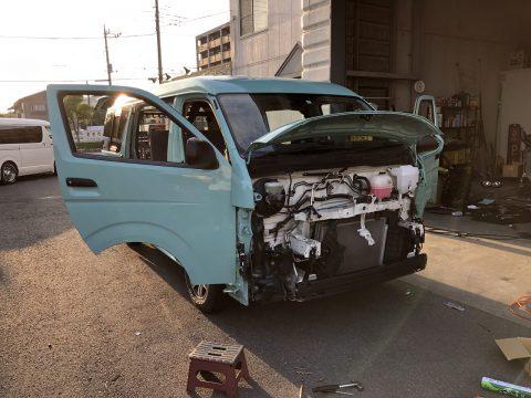 "New flexdreamデモカー!Newペイント:""アクアグリーン""で丸目換装FD-classicデモカーを製作中!"