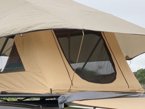 ARBルーフトップテント ポール 天幕 屋根を張る
