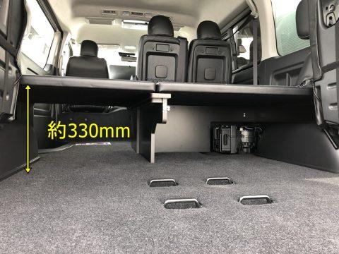 FD-BOXベッドキット:マット下高さ