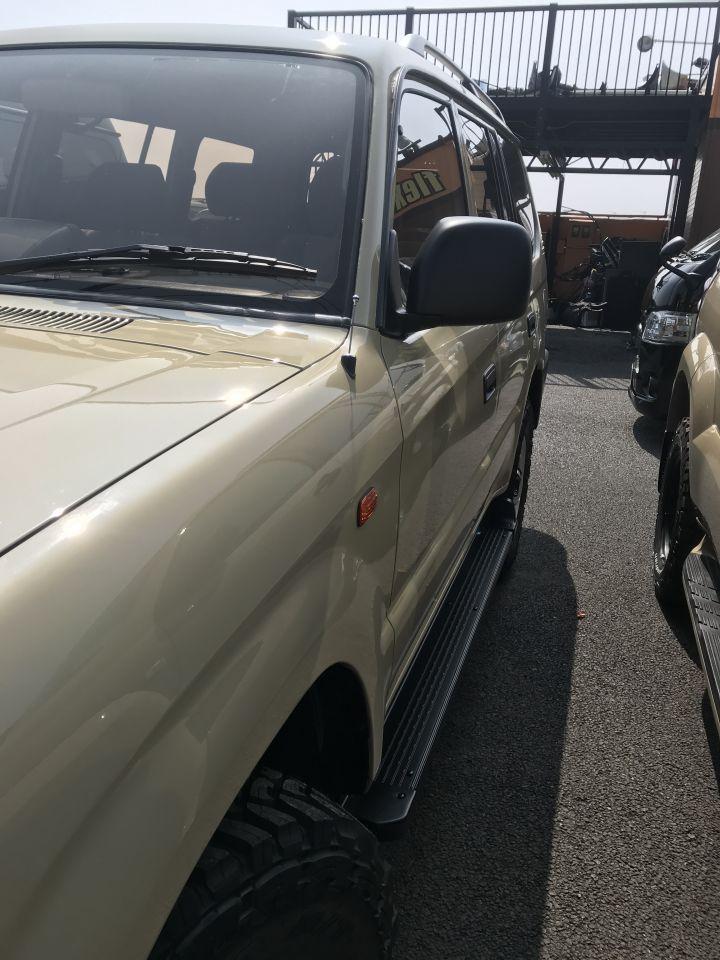95プラド クリスタルサイドマーカー オレンジ塗装済み