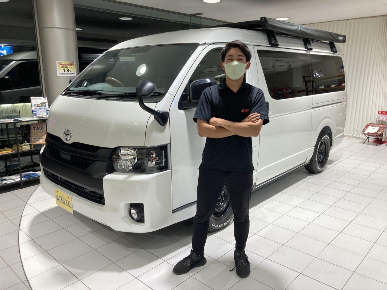 新車ハイエースV SGL ダークプライム2 FD-BOX7 vanlife!