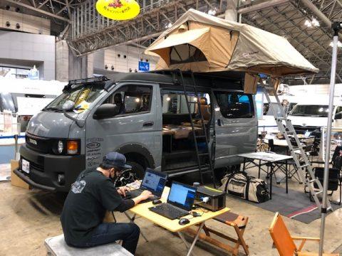 JAPAN CAMPINGCAR SHOW 2021絶賛開催中!!SEDONAブースにflexdreamデモカーも参加中です!