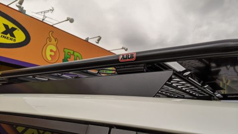 150プラド ARB4x4 フラット ルーフラック KADDIS リアラダー