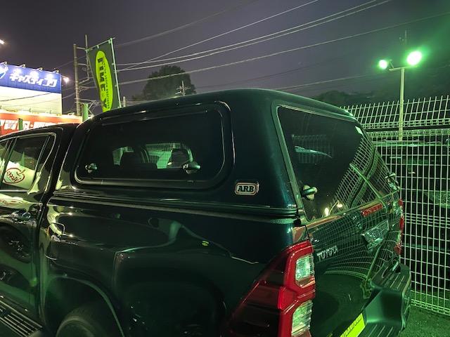 ハイラックス 入庫 即納 未登録車 キャノピー ARB LINE-X 新型